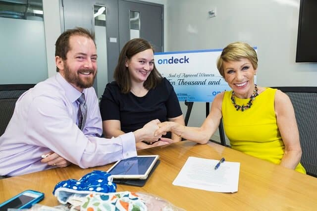 Seal of Approval Coaching Sessions with Barbara Corcoran. Winners: Beau & Belle Littles OnDeck Office, New York City 1/26/17 PHOTO CREDIT: Kate Glicksberg